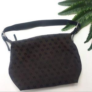 Dooney & Bourke Brown Black Monogram Handbag